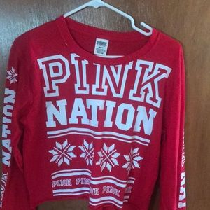 Pink Nation crop top